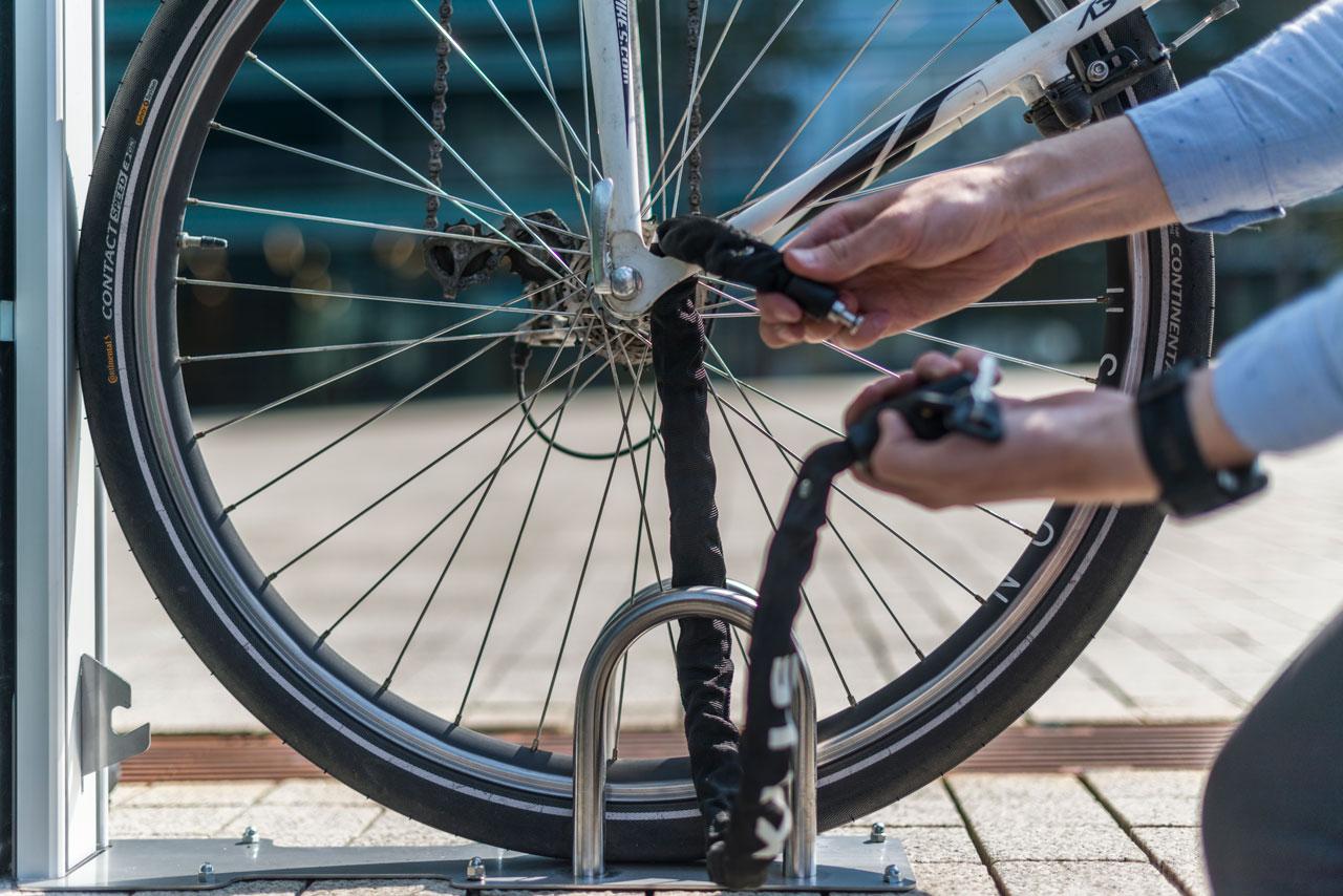 Parkmöglichkeiten Fahrrad diebstahlsicher