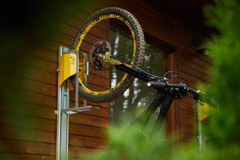 Mountainbike einfach parken